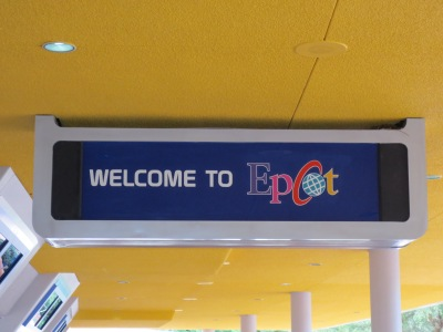 Welcome to EPCOT sign