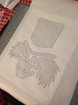 hatbox stencil 5