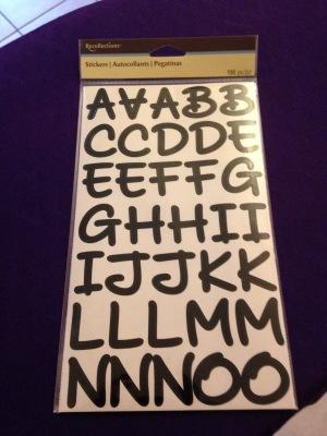 M&M letters